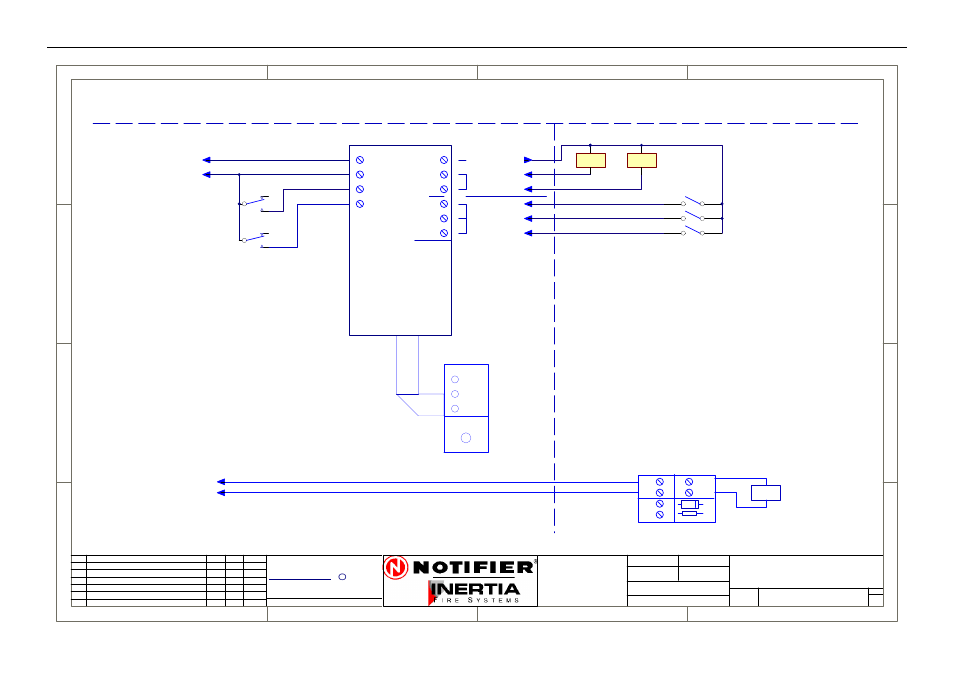 Supply fan connection diagram, Drg. no | Honeywell NOTIFIER IFS-2600 ...