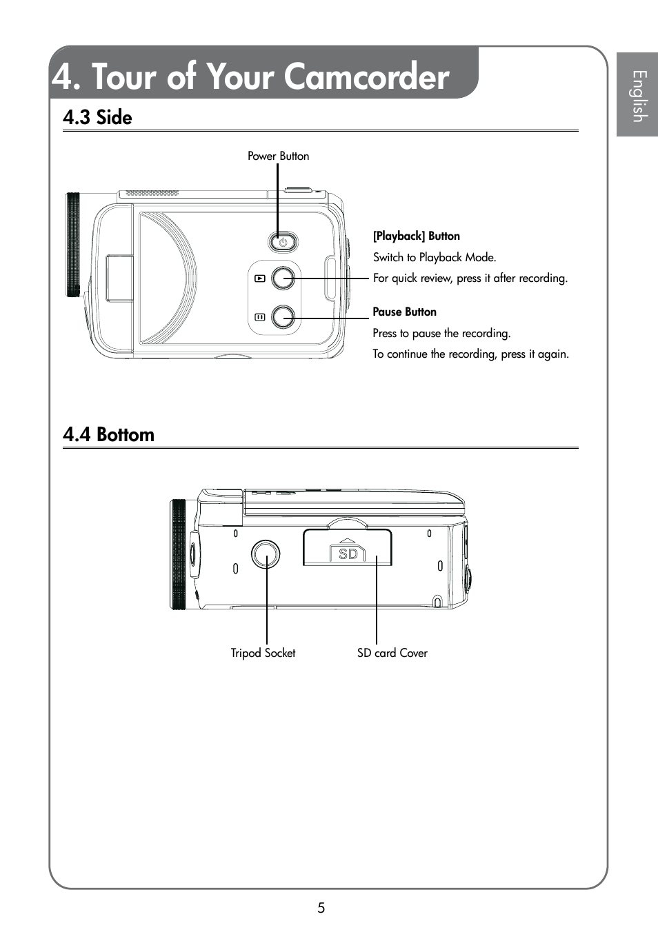 tour of your camcorder hp t200 user manual page 7 10 rh manualsdir com HP T200 Printer HP T200 Printer
