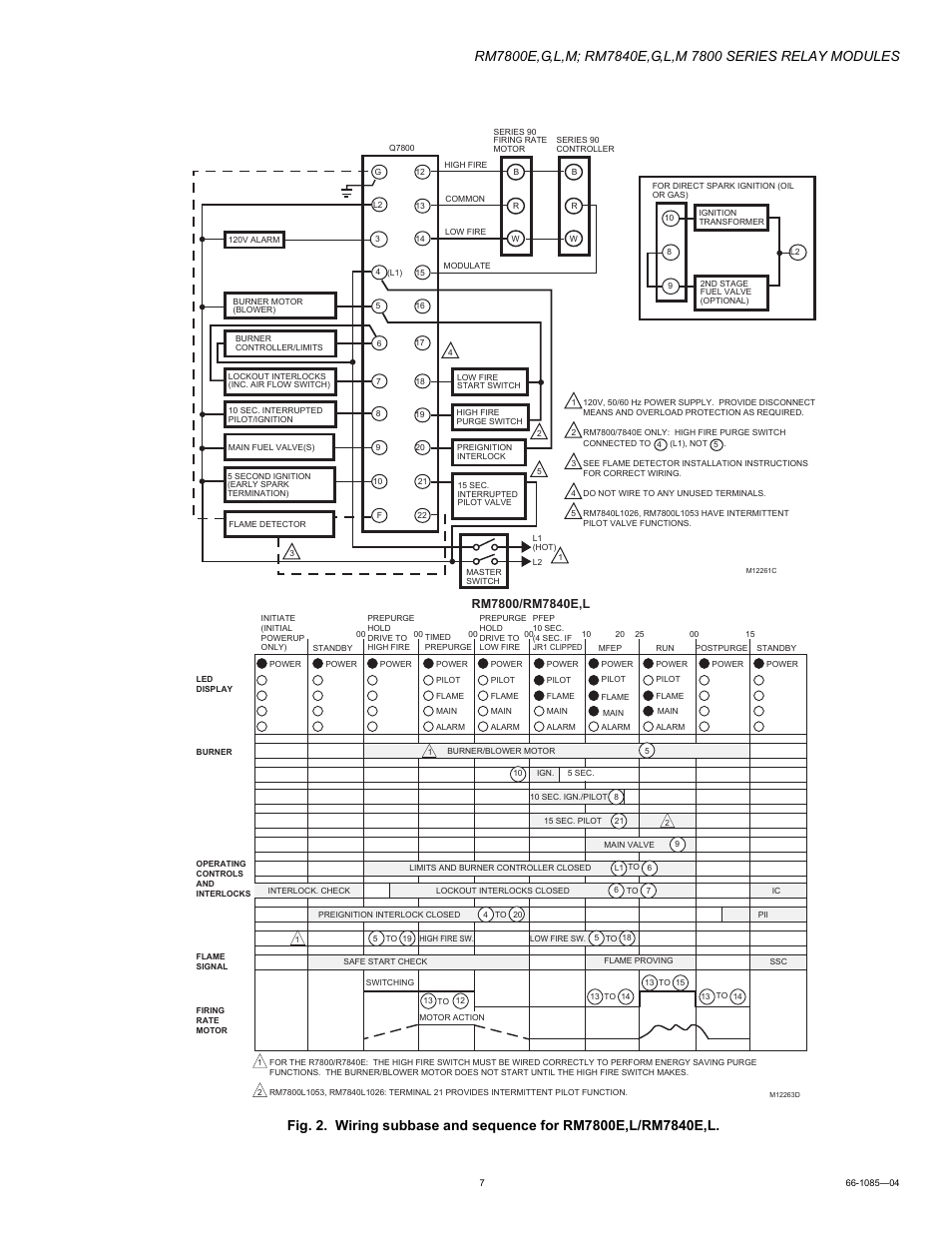 Honeywell Rm7800g User Manual Page 7 16 Also For Rm7800e 7800 Burner Control Wiring Diagram