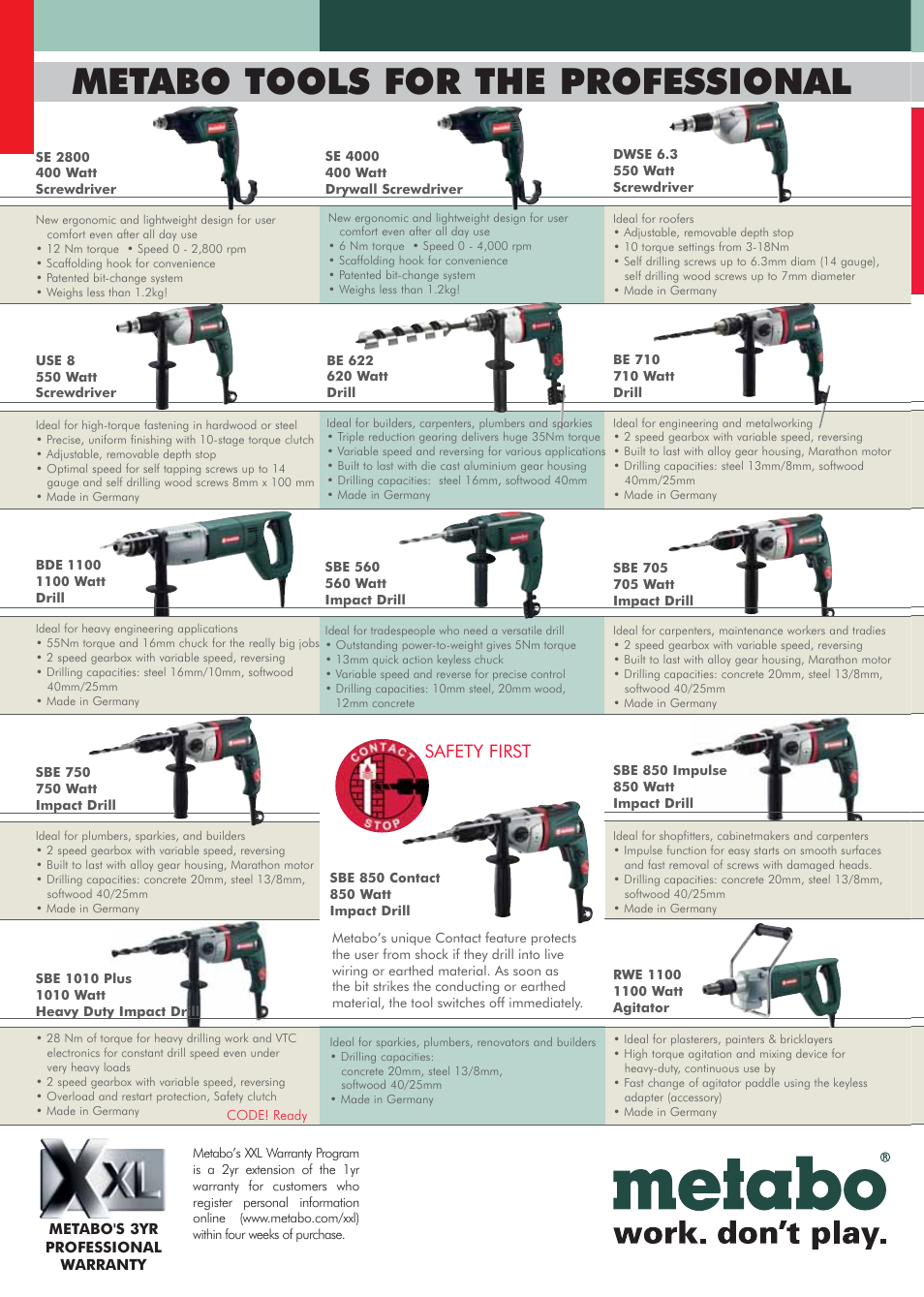 Metabo tools for the professional, Safety first | Hitachi DS14DVF3