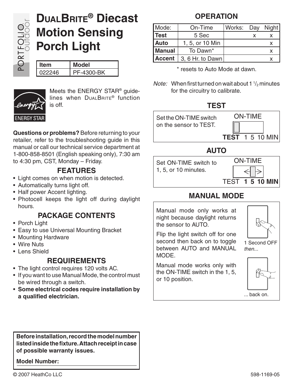 I Tried Installing A Photocell For Porch Light Using One Manual Guide