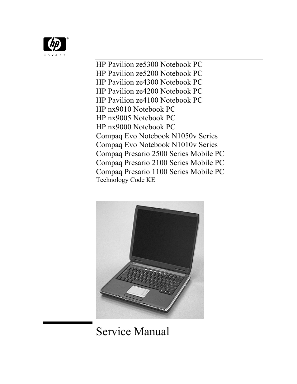 HP Pavilion ze5300 User Manual | 188 pages | Also for: Pavilion ze5200,  Pavilion ze4300, Pavilion ze4200, PAVILION ZE4100, nx9010, nx9005, nx9000,  ...