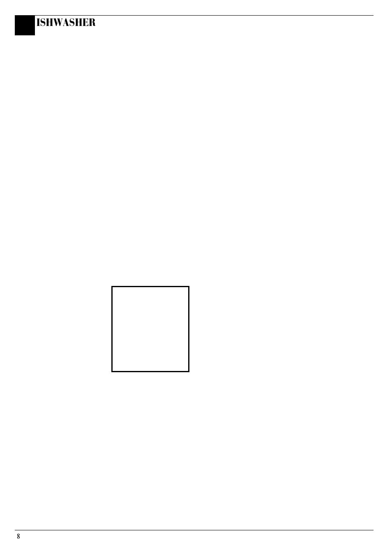 How to use your dishwasher, Ishwasher | Hotpoint Aquarius FDW20 User Manual  | Page 8 / 20