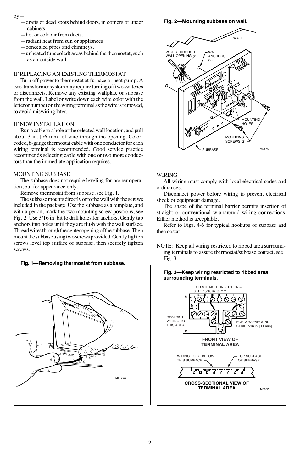 Honeywell Chronotherm Iii T8611g User Manual Page 2 8