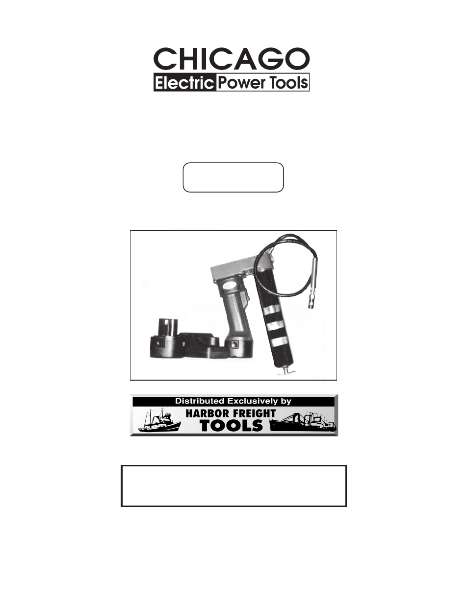 Electric Grease Gun >> Harbor Freight Tools Chicago Electric Power Tools 12 Volt Rechargeable Grease Gun 92196 User ...
