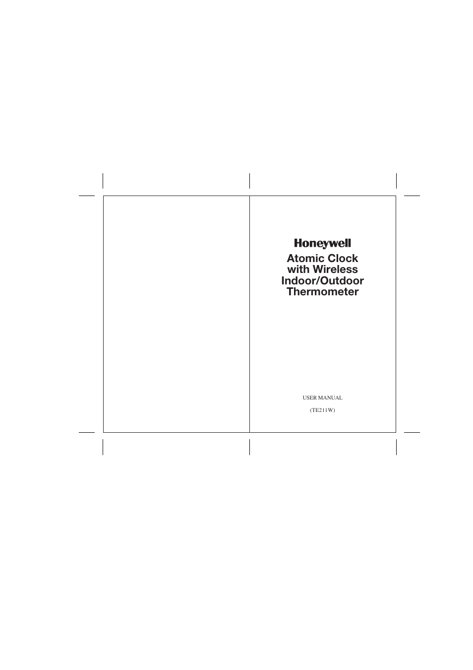 honeywell atomic clock manual