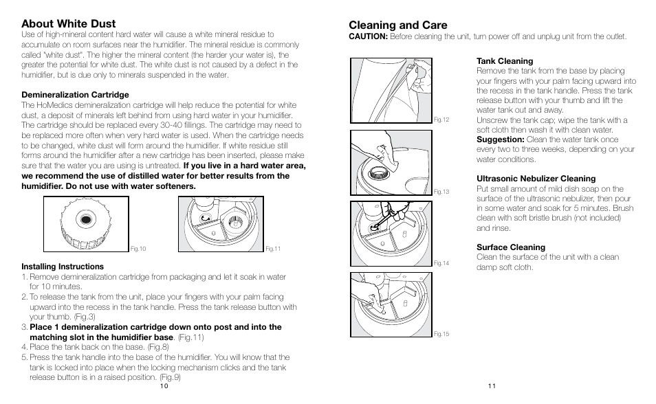 Cleaning And Care About White Dust Manual Guide