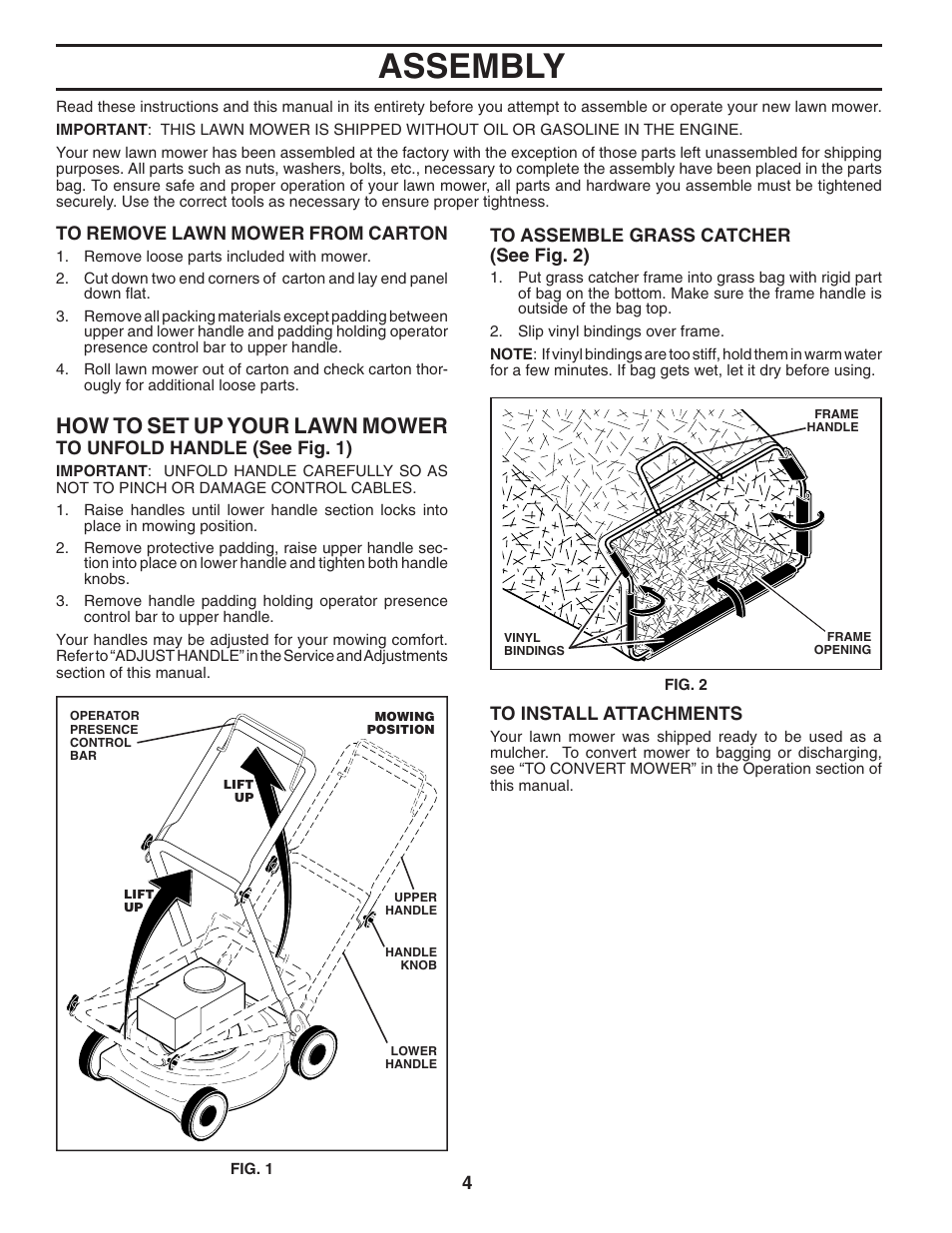 assembly how to set up your lawn mow er husqvarna 7021p user rh manualsdir com husqvarna mower 7021p manual husqvarna 7021p parts manual