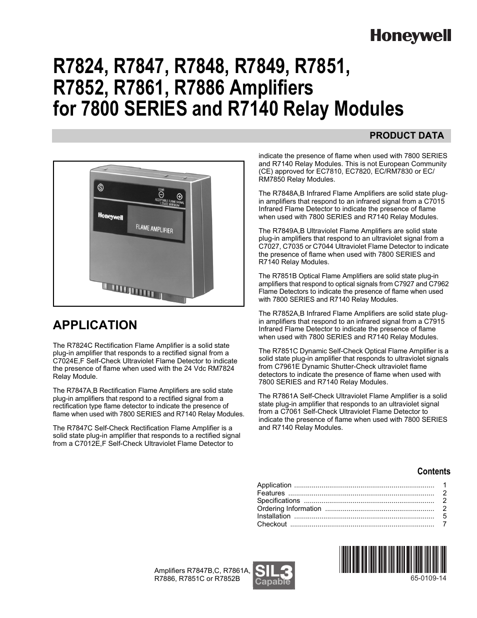 Honeywell R7824 User Manual   8 pages