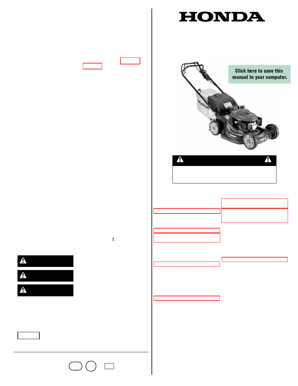 Honda Hrx217hxa User Manual 24 Pages Also For Hrx217hma