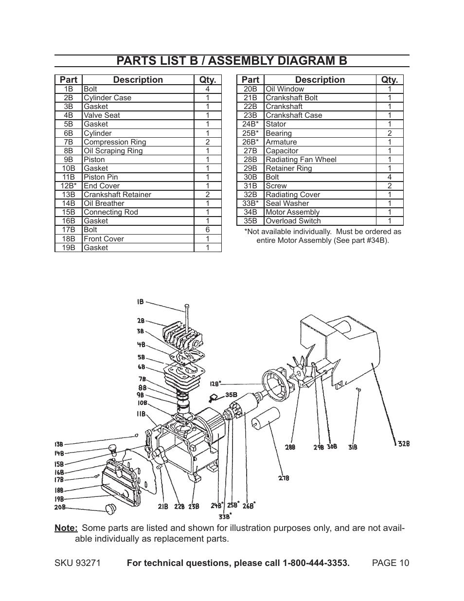 31 Central Pneumatic Air Compressor Parts Diagram