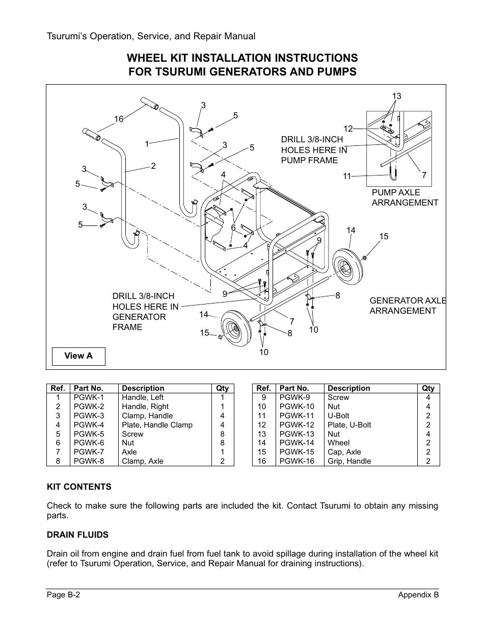 Tsurumi Instruction Manuals Pump Wiring Diagram 1995 Gmc Fuse Box