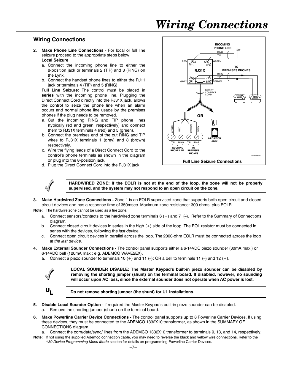 dsl wiring diagram phone line wiring rj31x jack line seizure wiring connections | honeywell ademco lynxr-en user manual ...