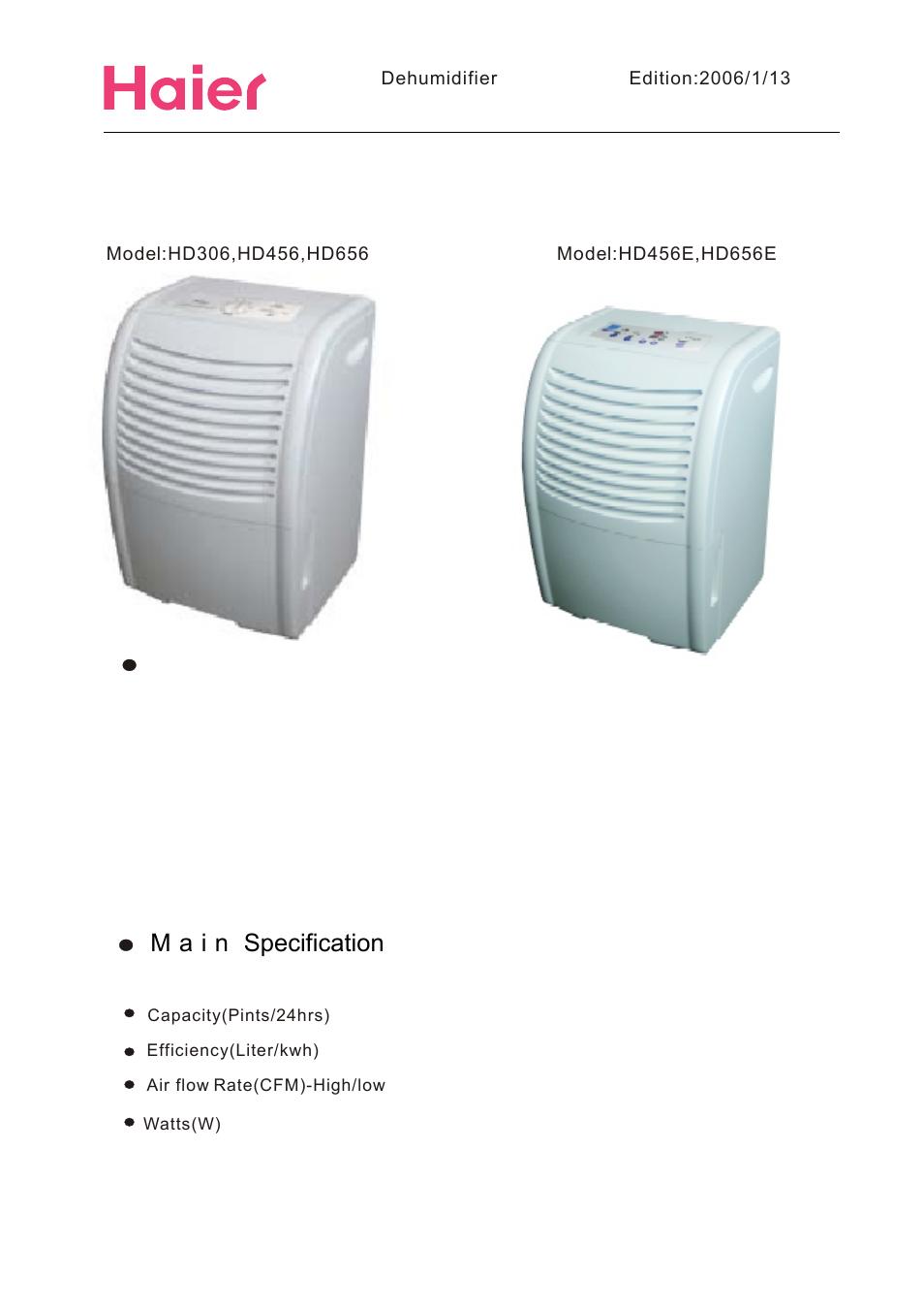 haier hd456 user manual page 2 18 original mode also for rh manualsdir com Model Manual Hyer Dehumidifier 45Ea-L Haier DE65EK 45 Pint Dehumidifier