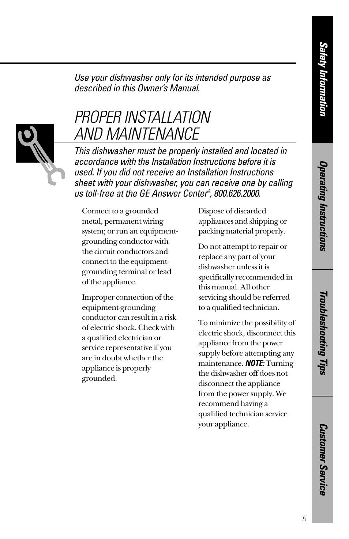 proper installation and maintenance hotpoint hda2200 user manual rh manualsdir com Hotpoint Dishwasher Not Draining hotpoint dishwasher hda2100hww manual