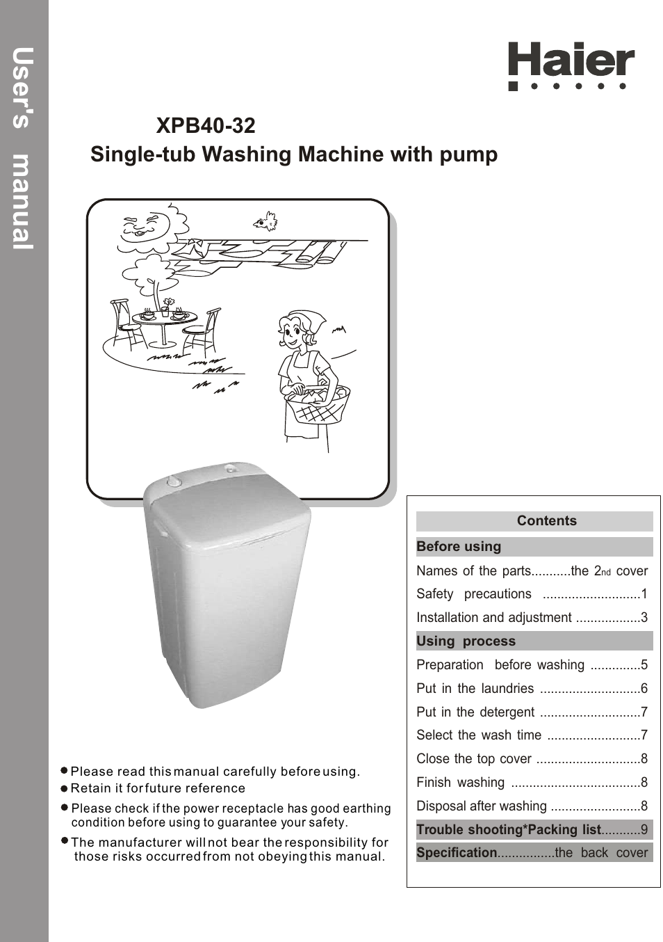 Haier Xpb40 32 User Manual 26 Pages Washing Machine Wiring Diagram