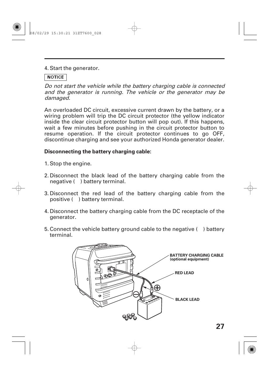 HONDA EU3000is User Manual | Page 29 / 71