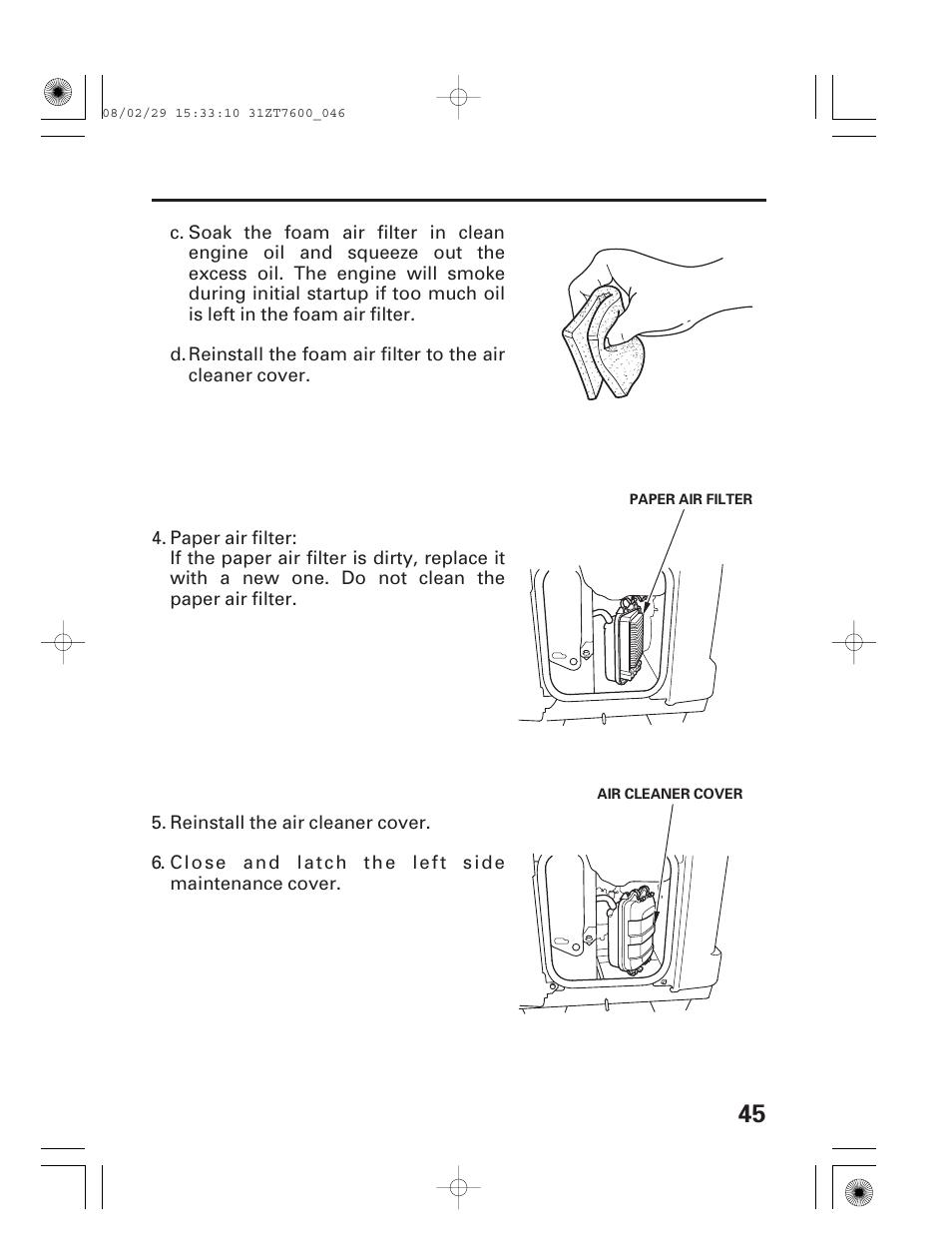 HONDA EU3000is User Manual | Page 47 / 71