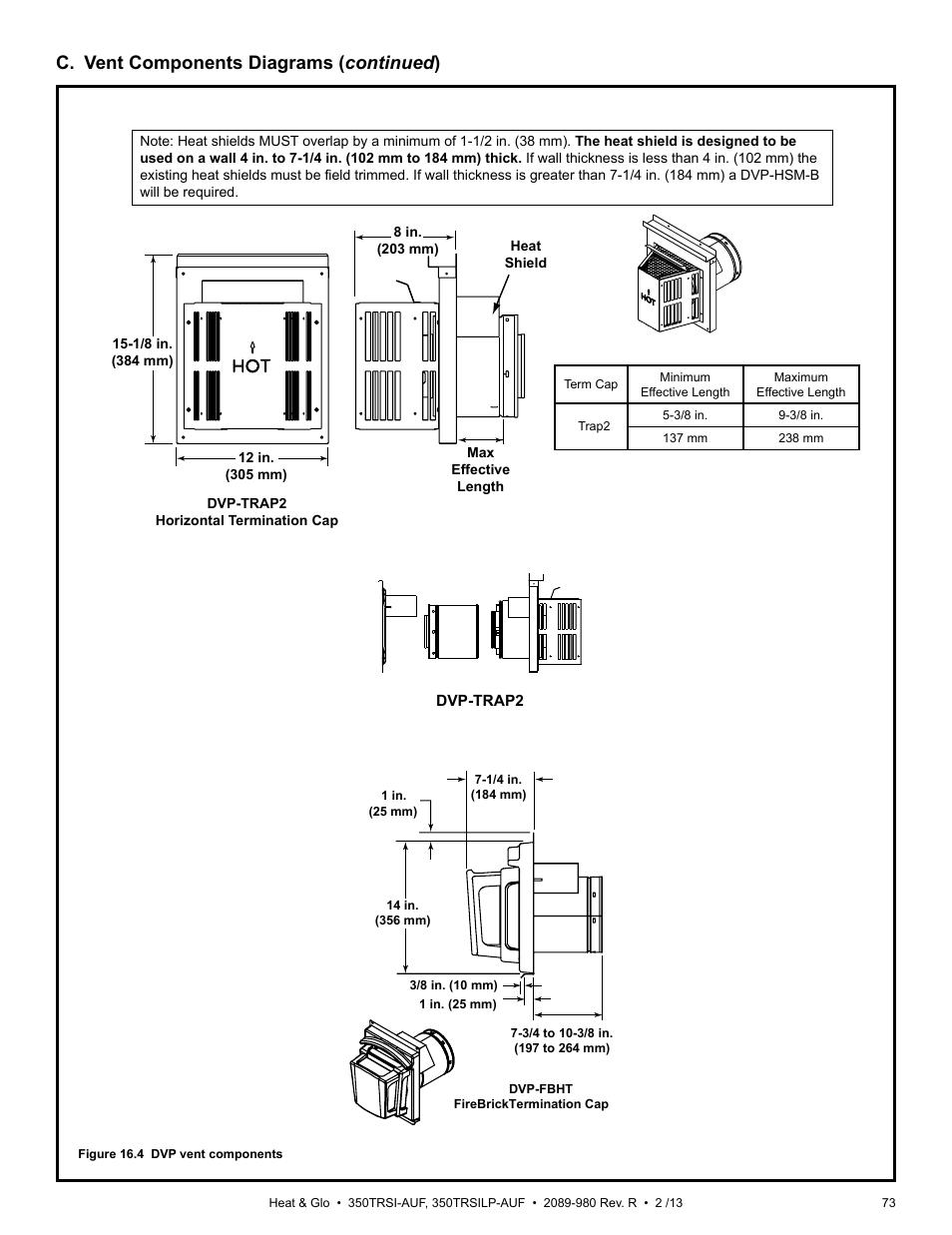 C  Vent Components Diagrams   Continued