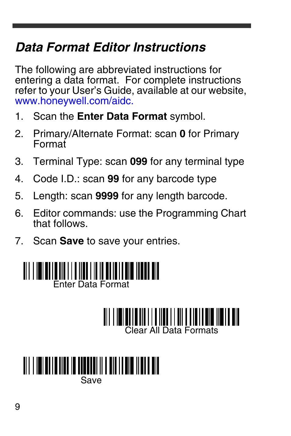 data format editor instructions honeywell 4600g user manual page rh manualsdir com honeywell 4600g scanner user manual Honeywell 4600G Driver Windows 7