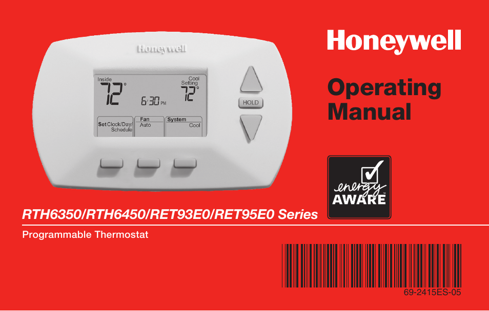 Honeywell rth6350 user manual 56 pages also for rth6450 cheapraybanclubmaster Gallery