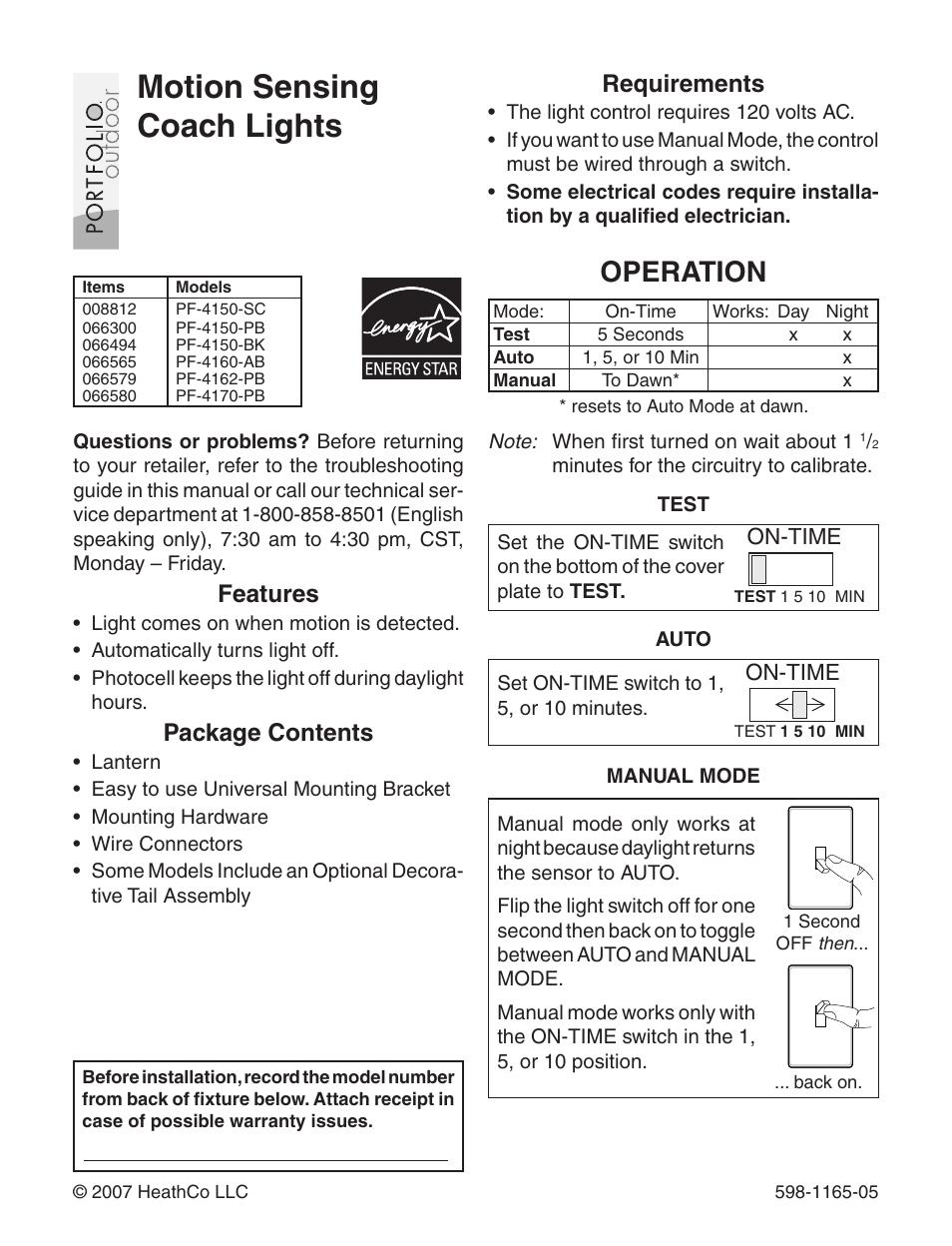 heath zenith pf 4160 ab user manual 24 pages also for pf 4170 rh manualsdir com Heath Zenith Wired Door Chime Heath Zenith Support