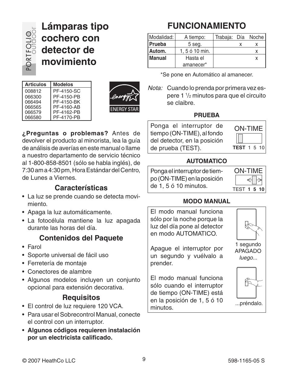 heath zenith pf 4160 ab user manual page 9 24 original mode rh manualsdir com Heath Zenith Logo Heath Zenith Motion Sensor