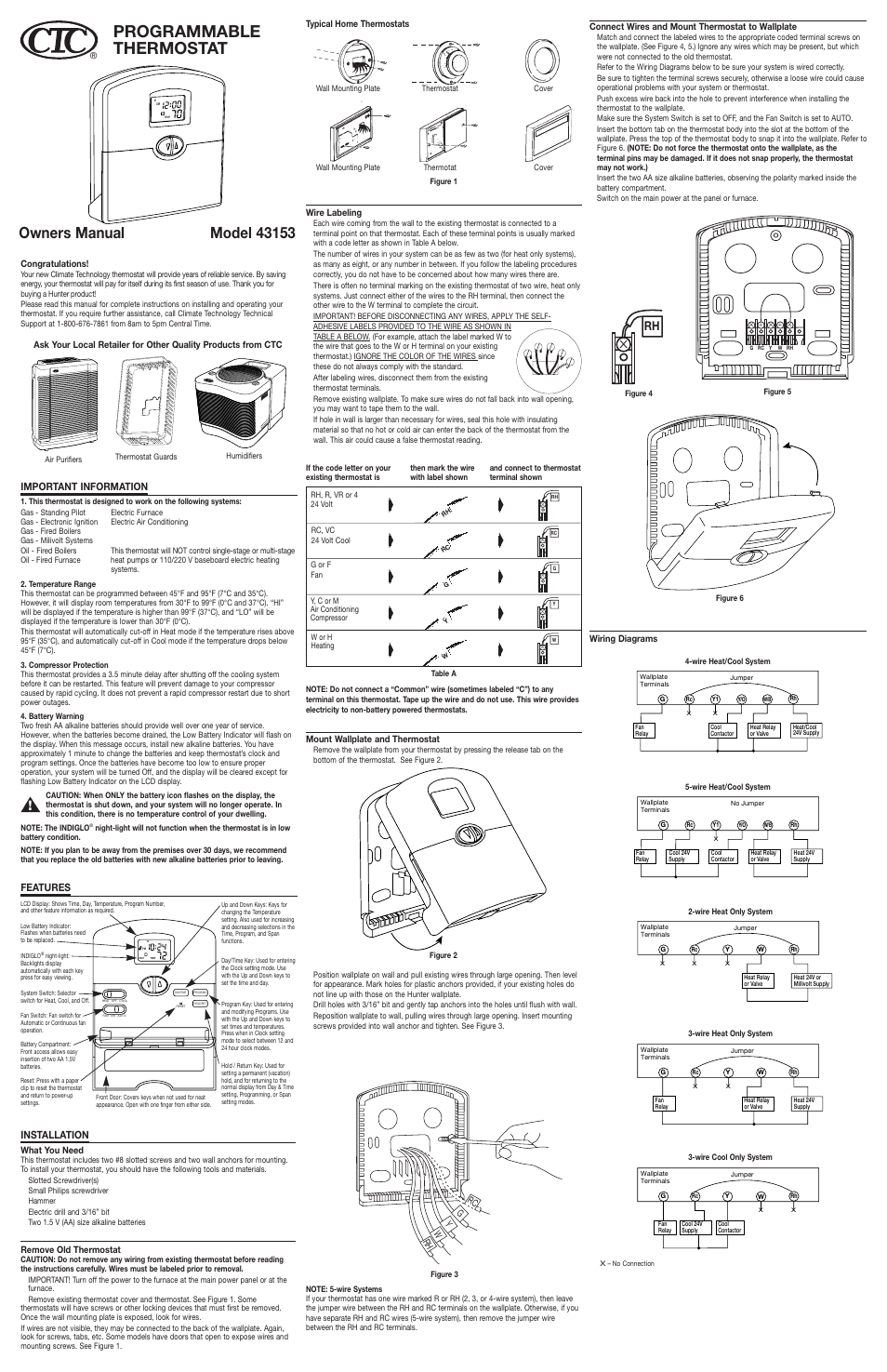 Wiring Diagram For Hunter Thermostat : Wire hunter thermostat wiring diagram engine