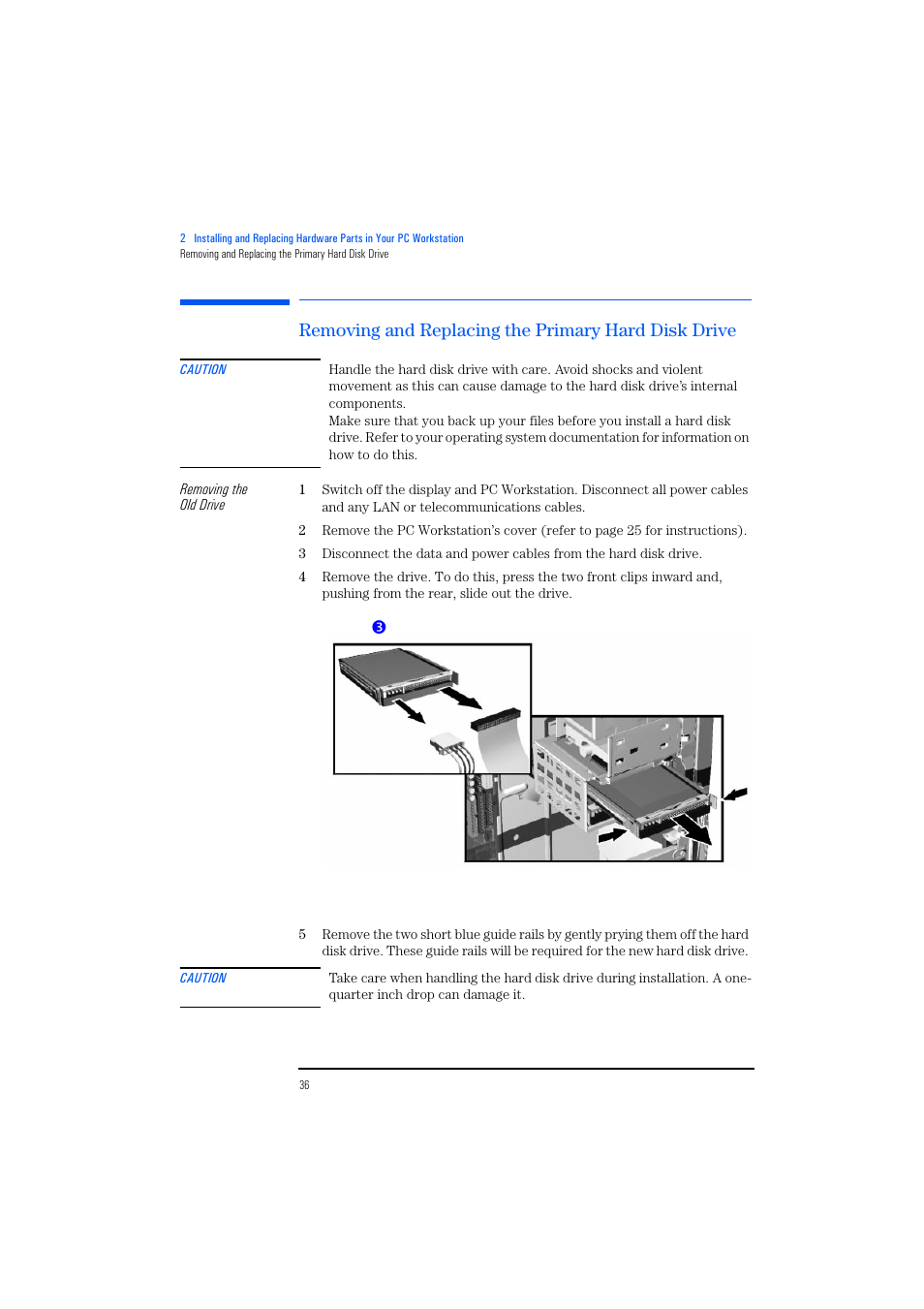 Removing And Replacing The Primary Hard Disk Drive Hp Kayak Xm600 Diagram Mounting User Manual Page 36 70