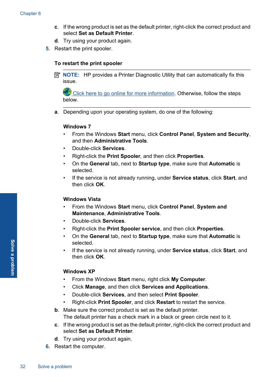 HP DESKJET 1000 J110 User Manual | Page 34 / 48 | Also for: Deskjet