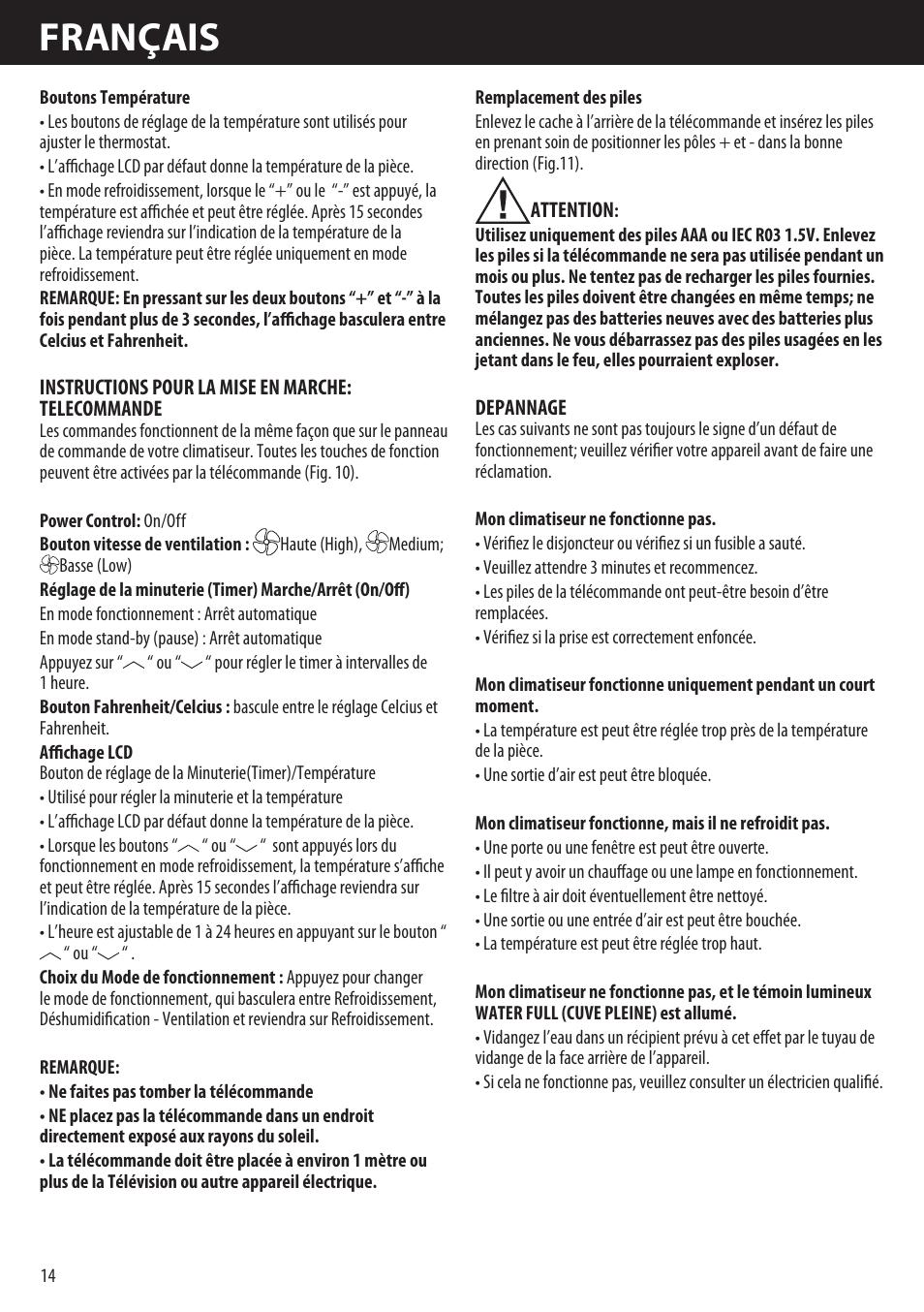 huge discount f02fd 42b76 Français   Honeywell AMH-10000E User Manual   Page 14   88