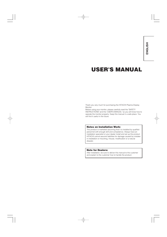 hitachi 42pd5000 user manual 76 pages also for 32pd5000 rh manualsdir com Sony STR De475 Manual Hitachi StarBoard Manual