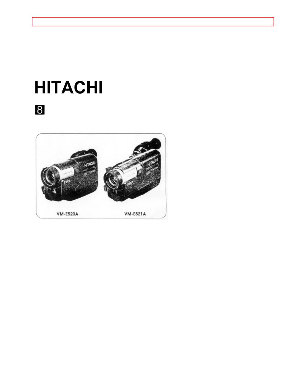 hitachi vm e520a user manual 50 pages rh manualsdir com hitachi vm-d865la manual hitachi vm-d865la manual