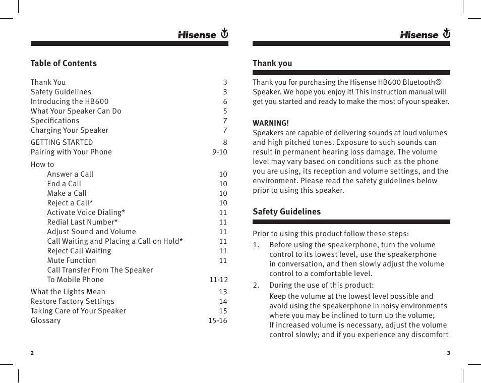 Hisense h5 user manual