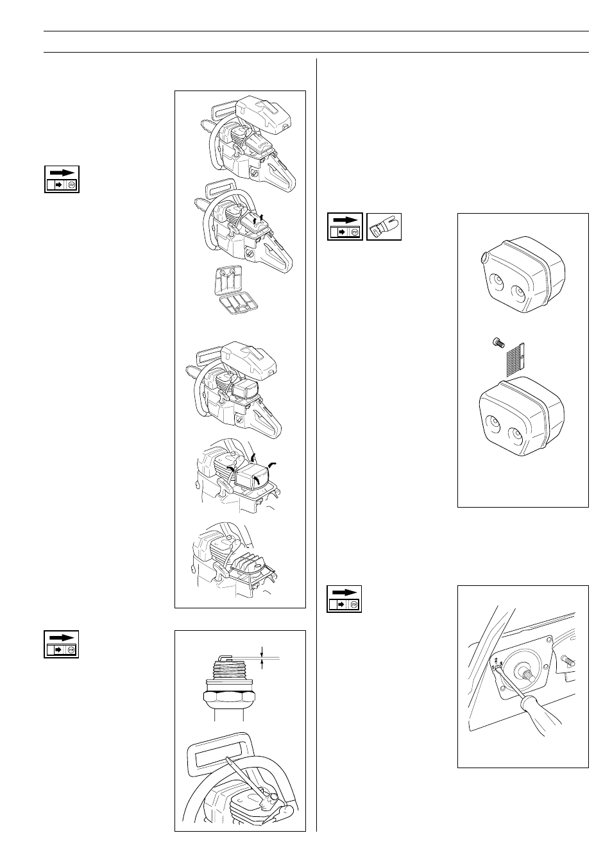 Maintenance, Air filter, Spark plug | Husqvarna 61 User