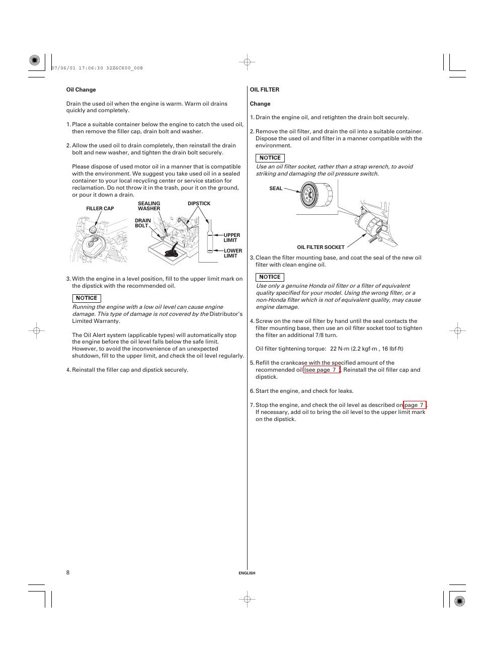 Oil Change Filter Honda Gx670 User Manual Page 8 58 Wiring Diagram