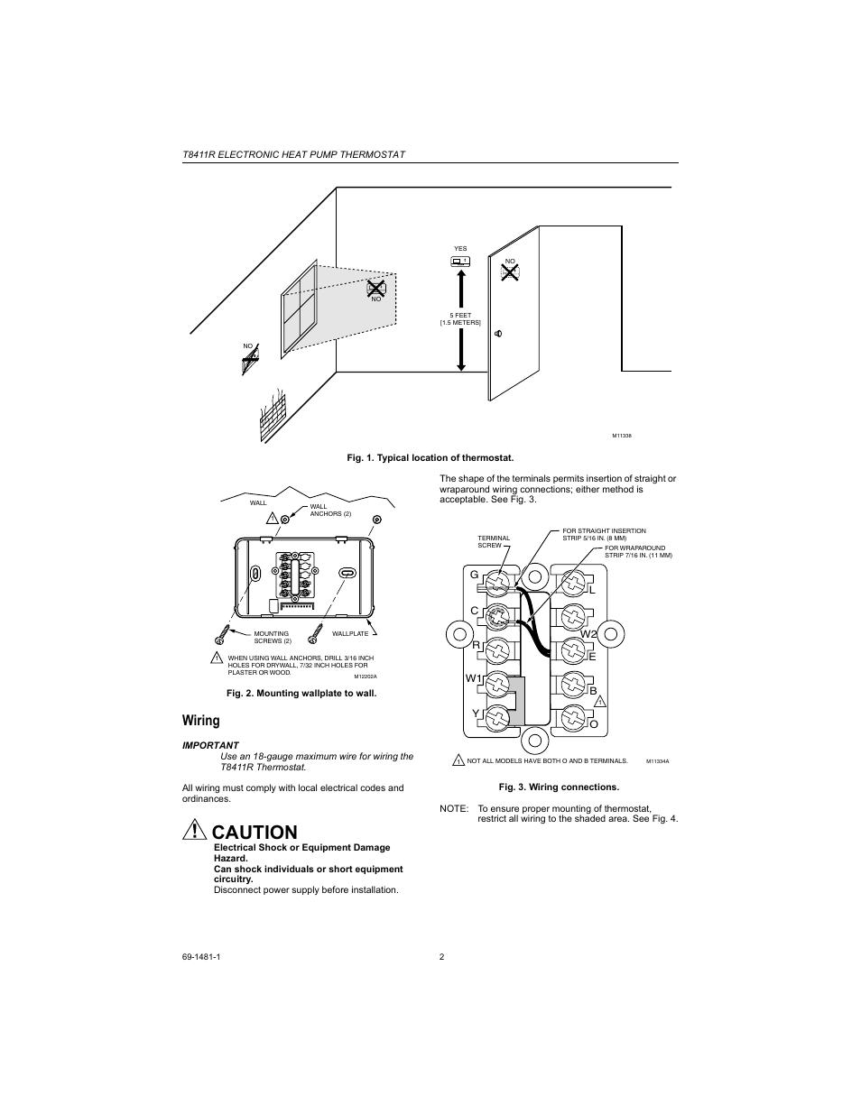 on heat pump honeywell thermostat t8411r wiring diagram