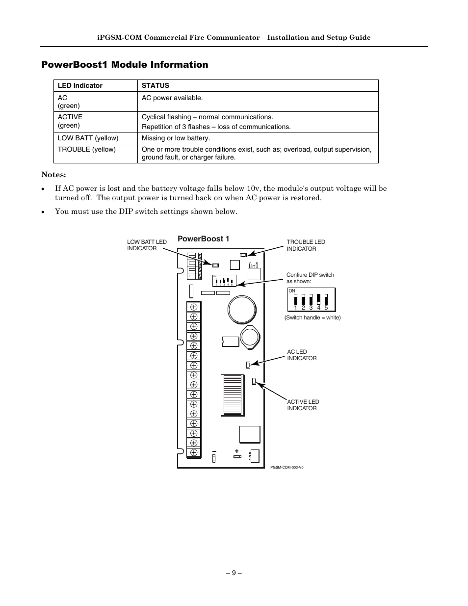 Powerboost1 Module Information Powerboost 1 Honeywell 800 04433v1 Battery Voltage Indicator User Manual Page 11 16