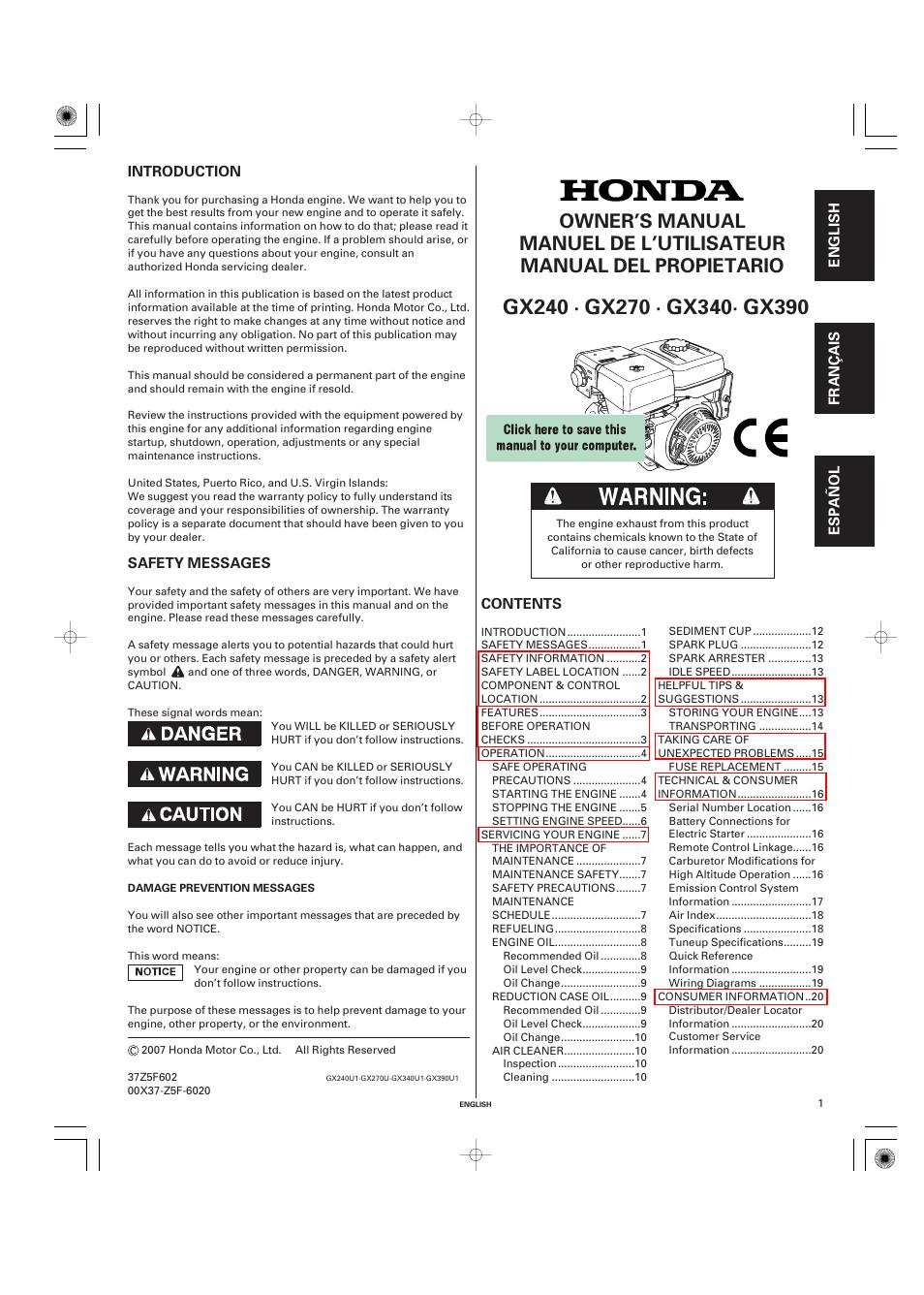 manual for honda gx270 free owners manual u2022 rh wordworksbysea com honda gx270 owners manual free honda gx270 service manual