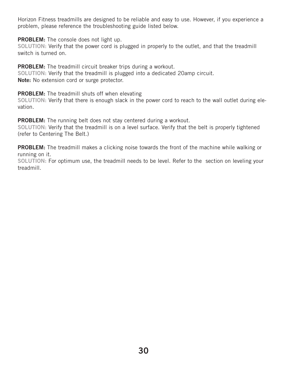 Horizon Fitness ELITE 2 1T User Manual | Page 30 / 40 | Also