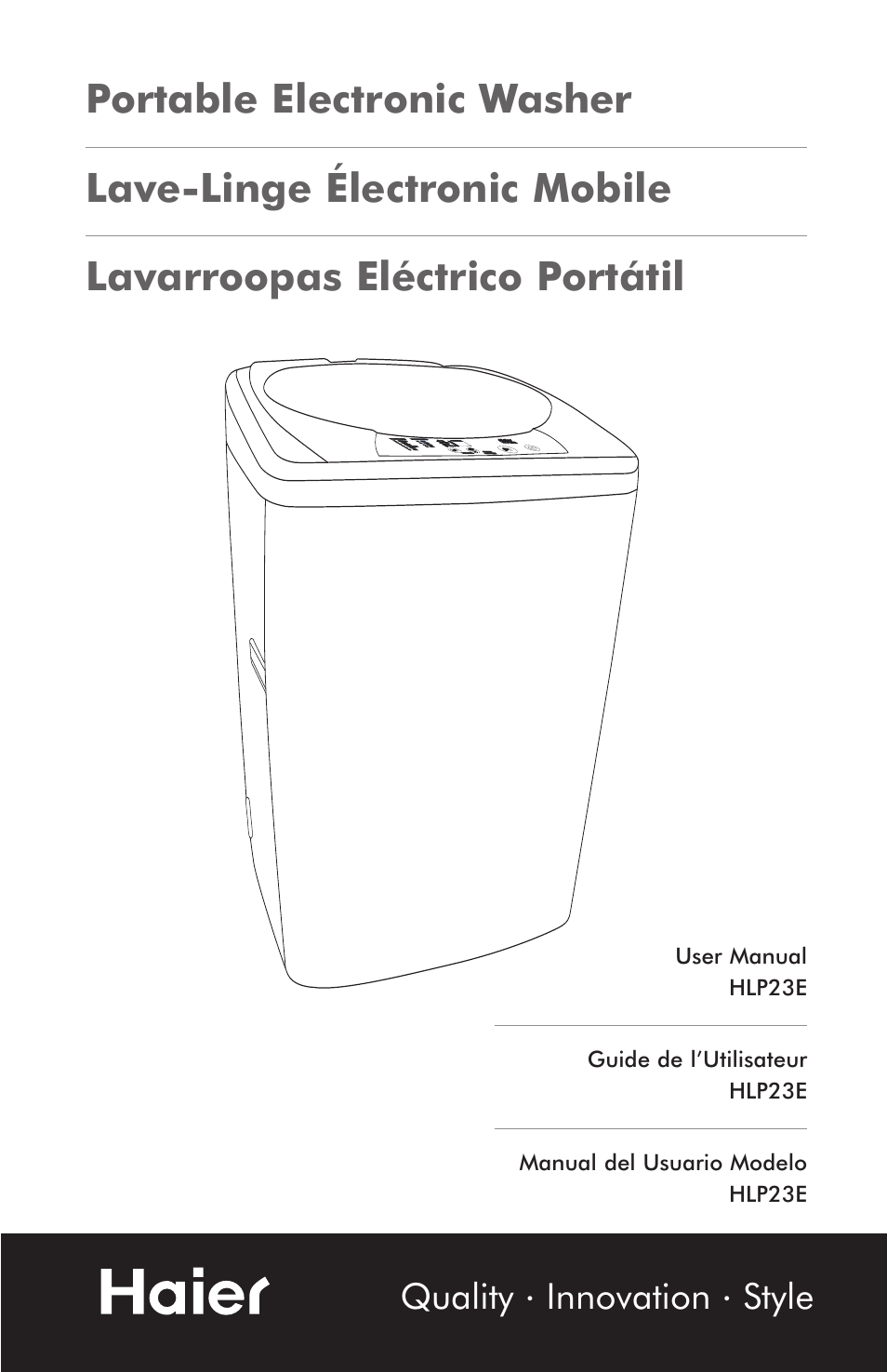 Haier Hlp23e User Manual