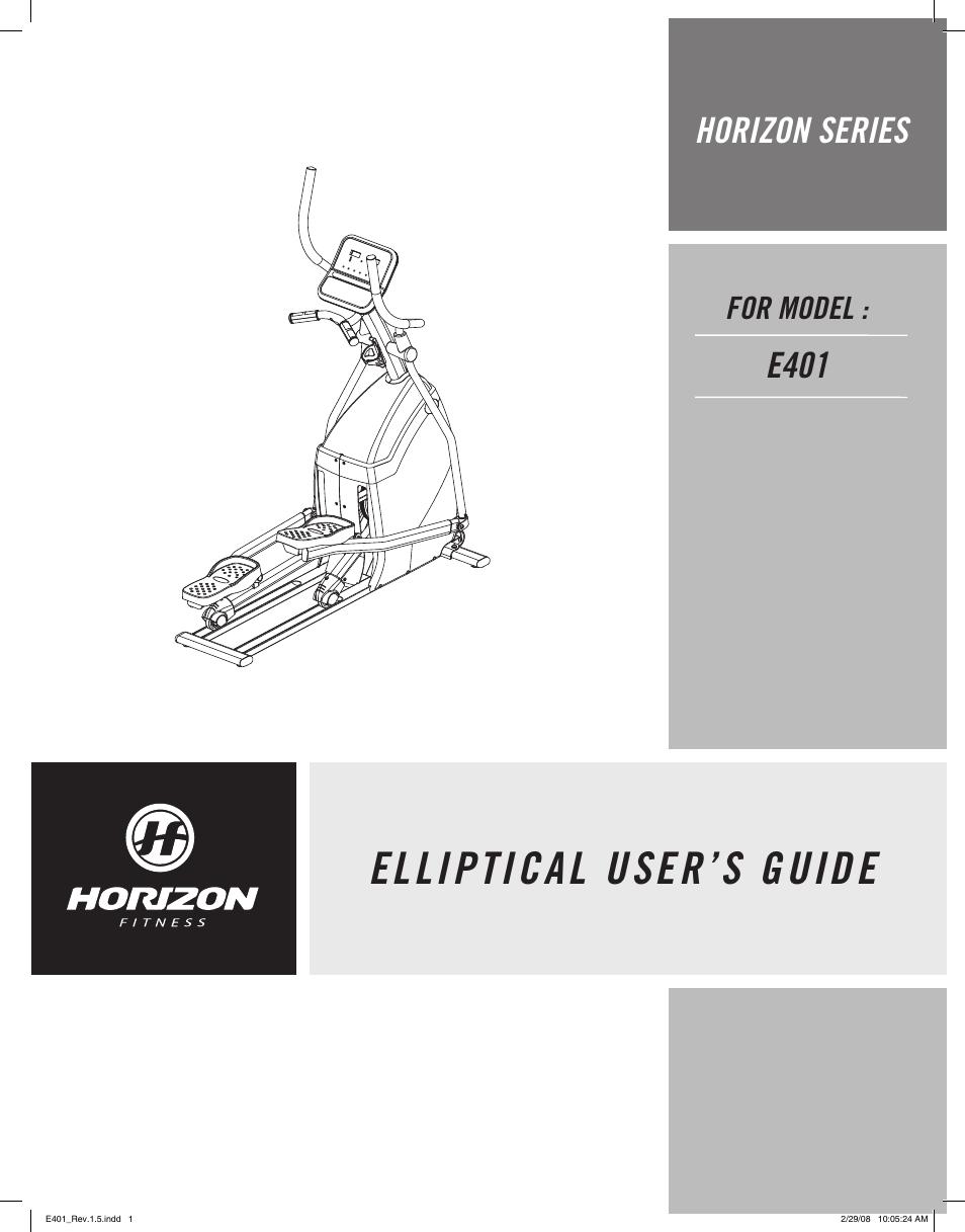 Horizon Fitness E401 User Manual