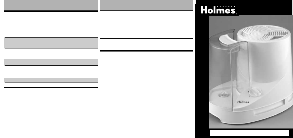 holmes cool mist humidifier manual