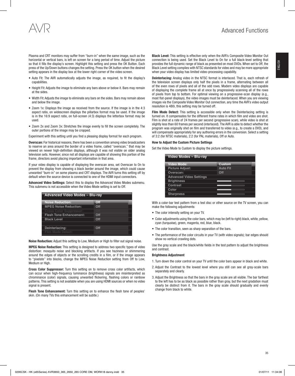 advanced functions harman kardon avr 265 user manual page 35 rh manualsdir com Harman Kardon Invoke Harman Kardon Logo