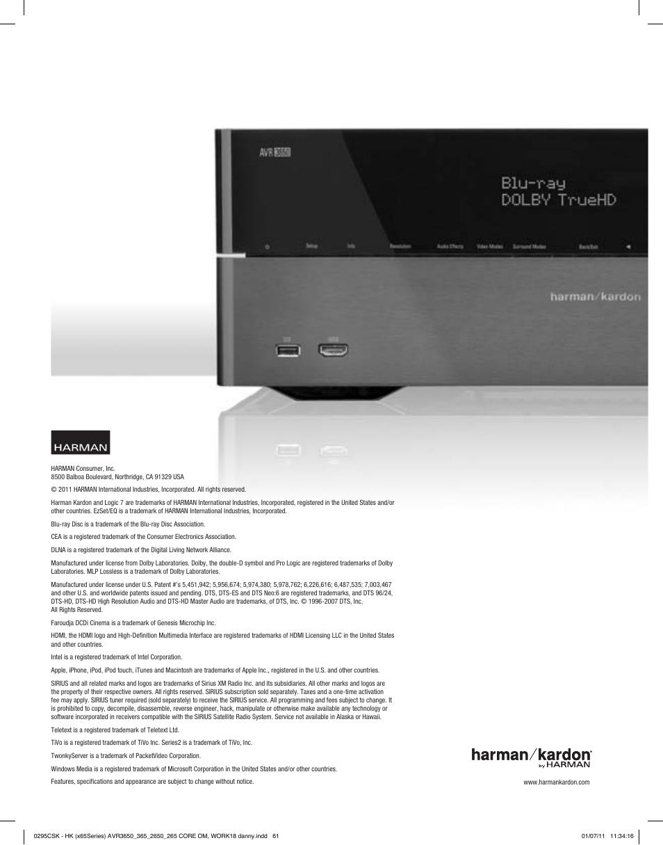 harman kardon avr 265 user manual page 61 62 original mode rh manualsdir com Harman Kardon Onyx Studio Harman Kardon Invoke
