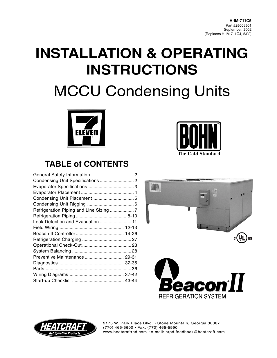 Bohn Condensing Units Part Diagram Schematic Diagrams Wiring Heatcraft Refrigeration Products Ii User Manual 48 Pages