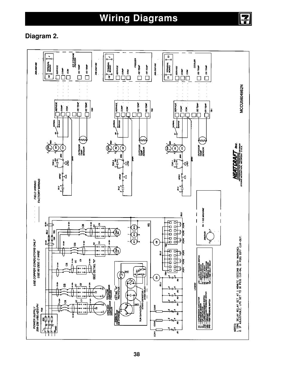 Wiring diagrams | Heatcraft Refrigeration Products II User ... on