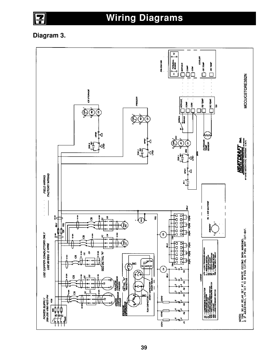 wiring diagrams heatcraft refrigeration products ii user manual page 39 48 original mode. Black Bedroom Furniture Sets. Home Design Ideas