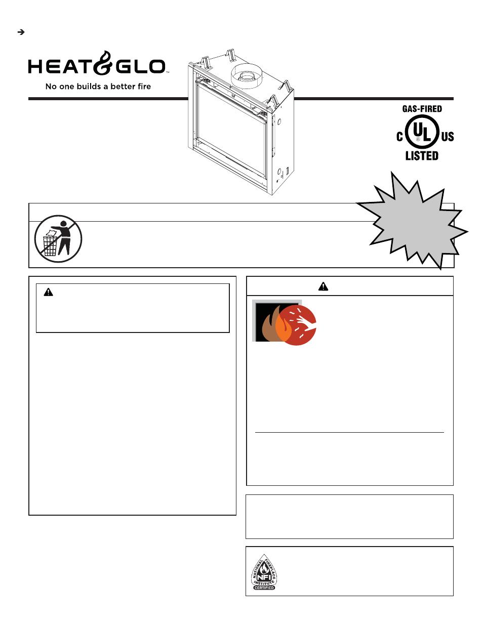 Heat  U0026 Glo Fireplace Sl