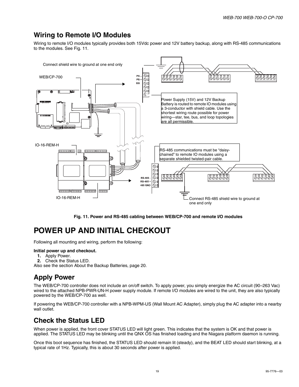 Initial Led Wiring Diagrams Module Diagram To Remote I O Modules Power Up And Checkout Apply Rc Light